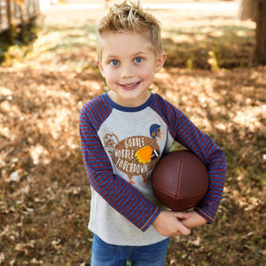Mud Pie Boys Thanksgiving Turkey / Gobble T-shirt 12M-5T