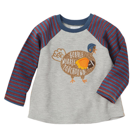 Image of Mud Pie Boys Thanksgiving Turkey / Gobble T-shirt 12M-5T