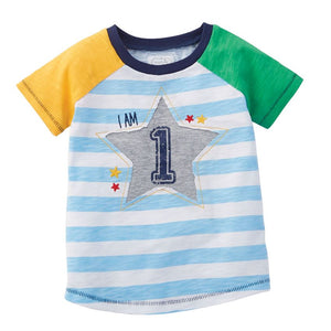 "Mud Pie Little Boy ""1"" Birthday Shirt 12-18 Months"