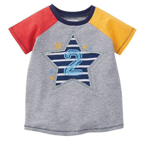"Image of Mud Pie Little Boy ""2"" Birthday Shirt 2T"
