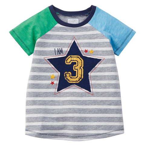 "Image of Mud Pie Little Boy ""3"" Birthday Shirt 3T"