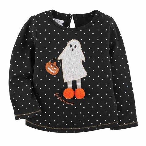 Image of Mud Pie Halloween Girl Ghost / Witch T-Shirt 12M-5T
