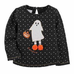 Mud Pie Halloween Girl Ghost / Witch Tee / Top 12M-5T