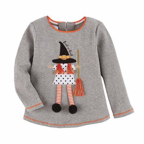 Image of Mud Pie Halloween Girl Ghost / Witch Tee / Top 12M-5T