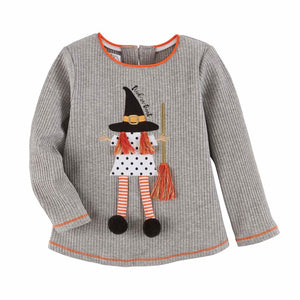 Mud Pie Halloween Girl Ghost / Witch T-Shirt 12M-5T