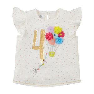 Mud Pie Baby Girl Four Birthday Shirt 4T