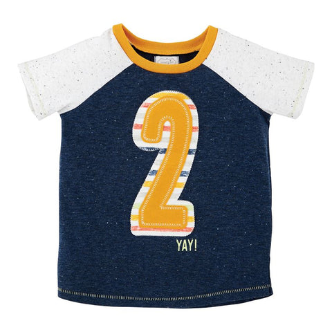 Mud Pie Baby Boy Two Birthday Shirt 2T