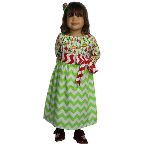 Dana Kids Christmas Holiday Tree Candy Ornament Peasant Girl Dress Size 12M to 10 Years