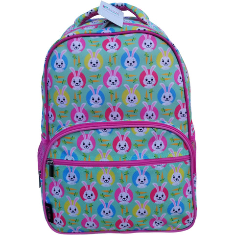 Little Planets Girls All Over Print 16'' Bunny Kid School Backpack