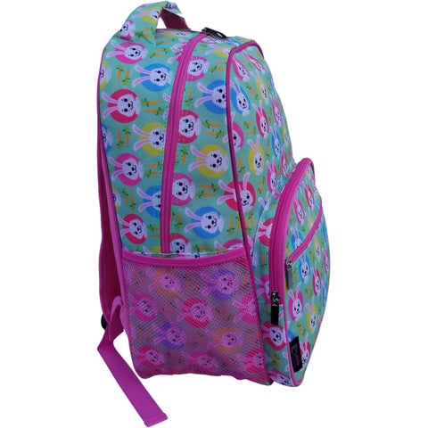 Image of Little Planets Girls All Over Print 16'' Bunny Kid School Backpack