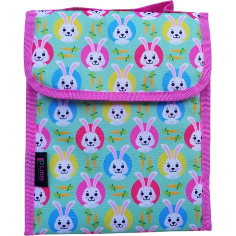 Little Planets Girls All Over Print Bunny Kid School Lunch Box / Lunch Bag