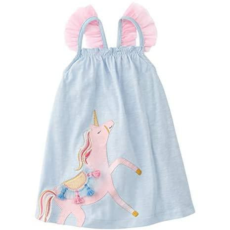 Image of Mud Pie Baby Girls' Unicorn Dress