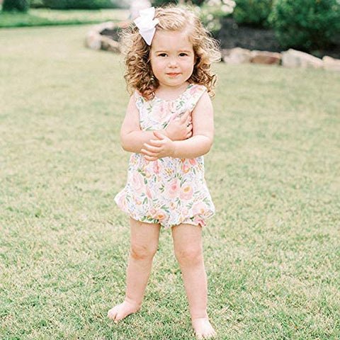 Image of Mud Pie Baby Girls Swirl Floral Bubble / Romper