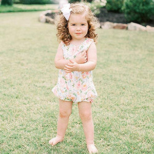 Mud Pie Baby Girls Swirl Floral Bubble / Romper
