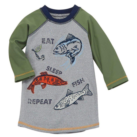 Image of Mud Pie Boys' Rash Guard, Multi, Large (4T-5T)