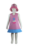 Dana Kids Birthday #2 Cupcake Balloons Reversible Dress 2T