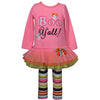 Bonnie Jean Girls Halloween Boo Y-All Applique Tiered Mesh Skirt Legging Set Size 12M-6X
