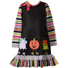 Bonnie Jean Little Girls Halloween Ghost Pumpkin Applique Dress 12 Months - 6X