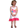 Dana Kids Birthday Girl #4 Cupcake Balloons Reversible Dress 4T
