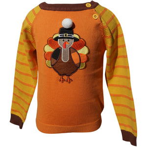 Dana Kids Boys Thanksgiving Turkey Sweater 12M- 8 Years