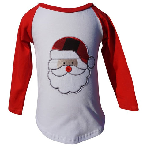 Dana Kids Christmas Holidays Santa Applique Boy T-Shirt 9M-7 Years