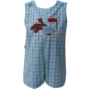 Dana Kids Boys The Tortoise and Hare Applique Shortall  6M-3T