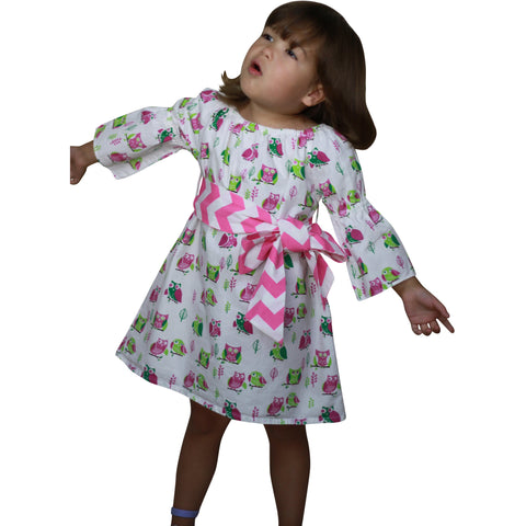 Image of Dana Kids Halloween Owl Peasant Dress Girls 12 Months-10 Years