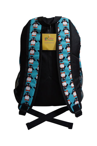 Image of Little Planets Boys Girls All Over Print 16'' Kid School Backpack, Penguin