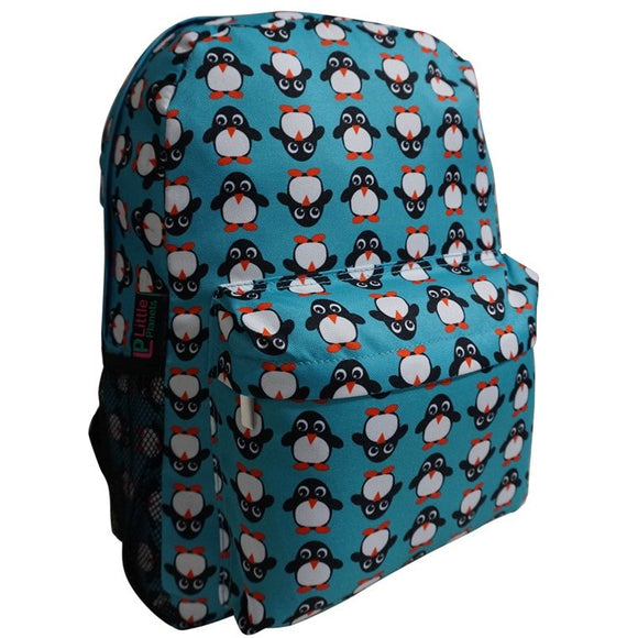 Little Planets Boys Girls All Over Print 16'' Kid School Backpack, Penguin