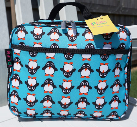 Little Planets Girl / Boy All Over Print Kid School Lunch Box (Penguin)