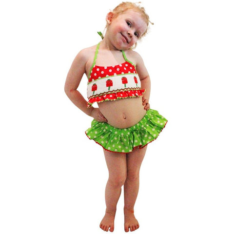 Dana Kids Popsicle Smocked Bikini Swimsuit Girl 18M-4T