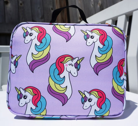 Image of Little Planets Girls All Over Print Kid School Lunch Box (Unicorn)