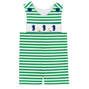 Dana Kids Seahorse Hand Smocked Shortall Baby Toddler Boys 6M-4T