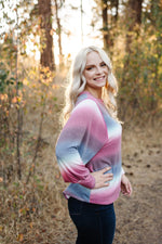 Caught Up In You Striped Ombre' Top - Kasey Leigh Boutique