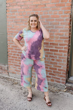 Cotton Candy Rainbow Tie Dye Joggers - Kasey Leigh Boutique