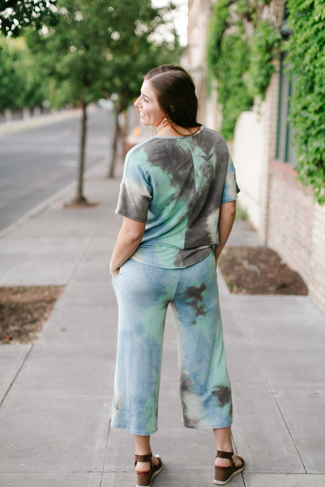 Arctic Waters Tie Dye Top - Kasey Leigh Boutique