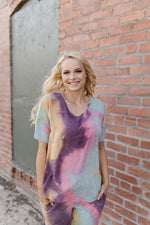 Cotton Candy Rainbow Tie Dye Top - Kasey Leigh Boutique