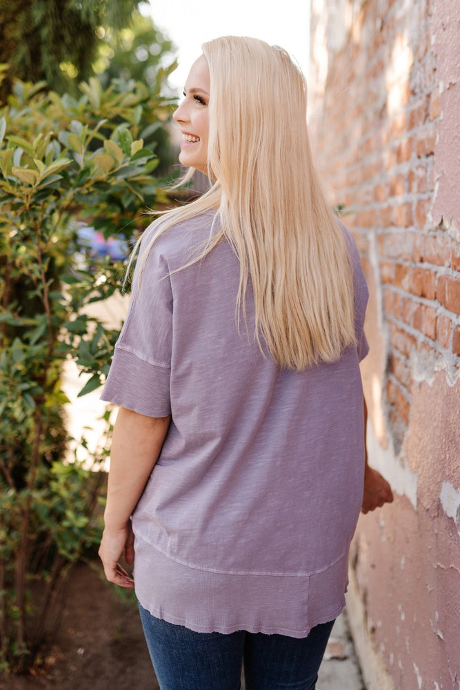 Fields of Violet Knit Tunic SUMMER - Kasey Leigh Boutique