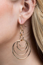 Turning in Circles Earrings - Silver or Gold Jewelry - Kasey Leigh Boutique