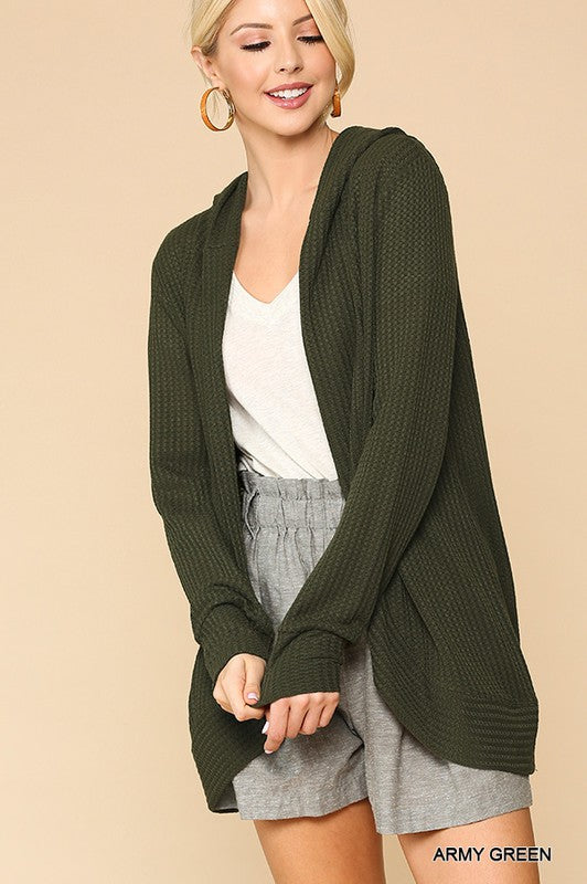 The Heidi Cardi in Army Green - Kasey Leigh Boutique