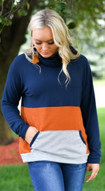 Colorblock Super Soft Funnel Neck Pullover