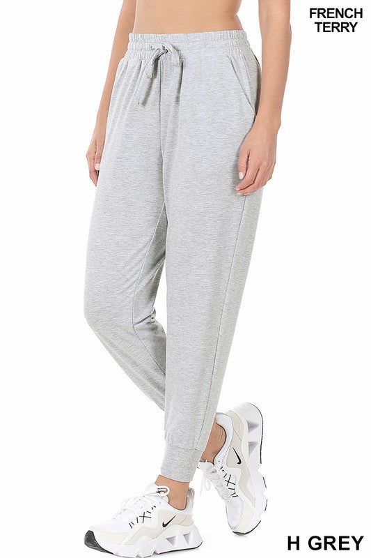 Relaxed Everyday Jogger - Heather Grey - Kasey Leigh Boutique