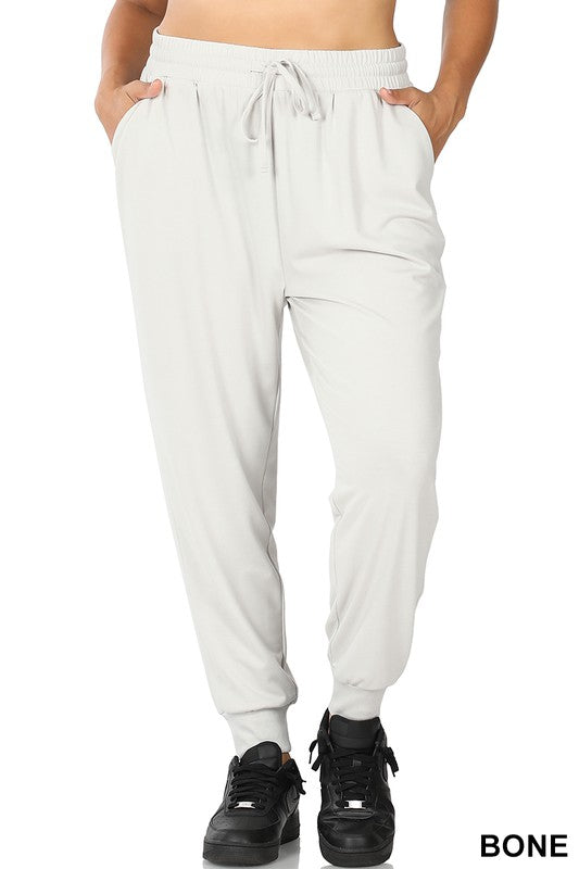 Relaxed Everyday Jogger - Bone - Kasey Leigh Boutique