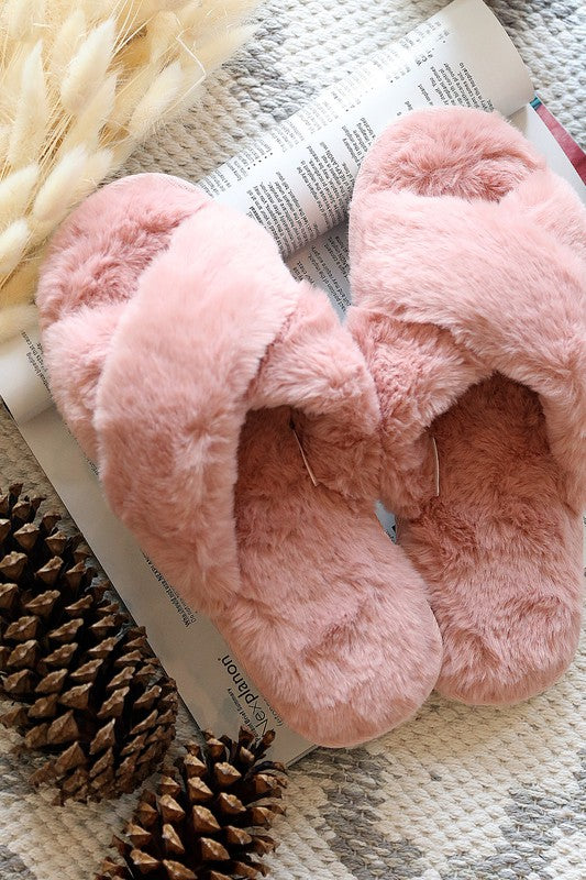 Fabulous & Furry Slide on Slippers - Kasey Leigh Boutique