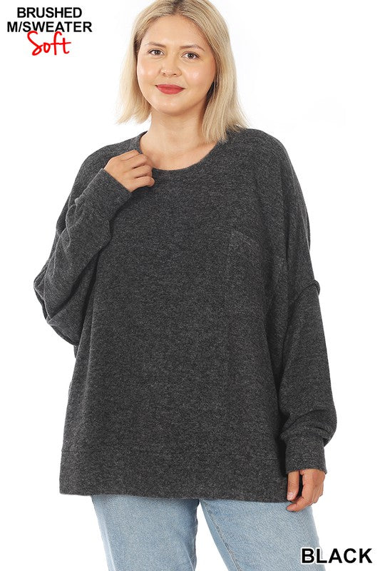 Oversized Drop Shoulder Sweater - Kasey Leigh Boutique