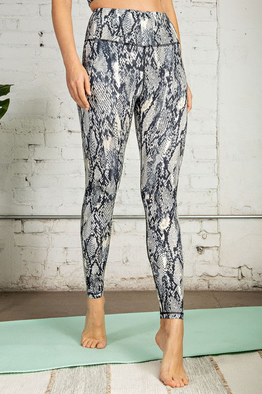 Sassy Snakeskin Buttery Soft Leggings - Kasey Leigh Boutique