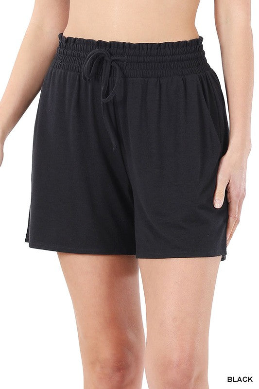 The Jersey Short - Black Bottoms - Kasey Leigh Boutique