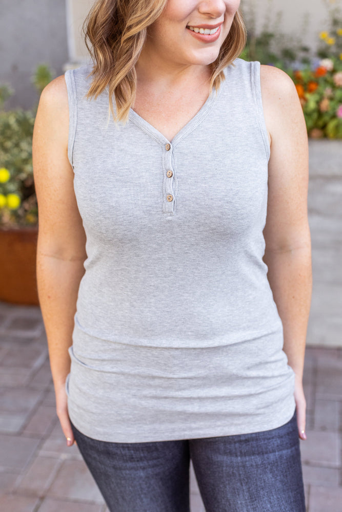 Addison Henley Tank - Heather Grey
