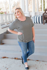 Your Stripes Are Showing Top Tops/Tunics - Kasey Leigh Boutique