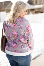 Romance Blossoms Dolman Top - Kasey Leigh Boutique